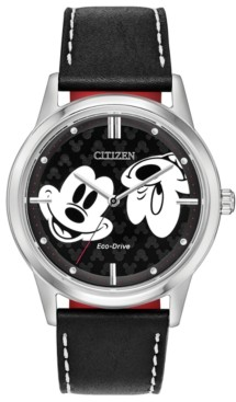 Citizen Disney by Eco-Drive Unisex Mickey Mouse Black Strap Watch 40mm