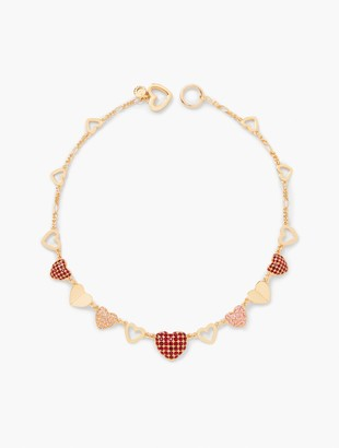 Talbots Pave Hearts Necklace