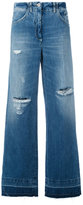 Dondup distressed wide-leg jeans - women - Cotton/Polyester - 42