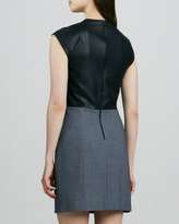 Theory Orinthia C Dress with Leather Bodice