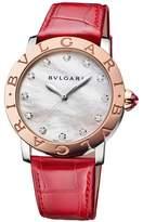 Bvlgari Rose Gold, Mother-of-Pearl and Diamond Bulgari Bulgari Lady Watch 37mm