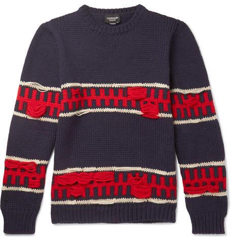 Calvin Klein Wool And Mohair-Blend Sweater