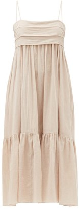 Loup Charmant Iliana Bow-back Organic-cotton Dress - Light Pink