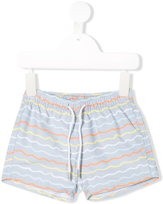 Knot Wave Printed Swim Shorts