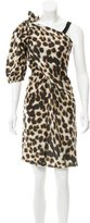 David Szeto Leopard Print Silk Dress