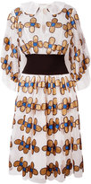 Christopher Kane allover flower shirt dress - women - Nylon/Polyester - 40