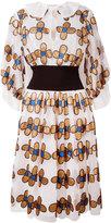 Christopher Kane allover flower shirt dress - women - Nylon/Polyester - 42