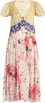 ATTICO Natalia floral-print V-neck silk dress