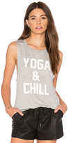 Private Party Yoga & Chill Tank in Gray