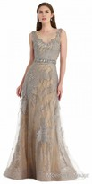 Morrell Maxie Two Tone Beaded Overlay Evening Dress