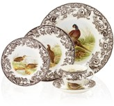 Spode Woodland by 5-Piece Place Setting with Pheasant Dinner Plate