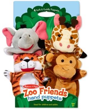 Melissa & Doug Kids' Zoo Friends Hand Puppets Set