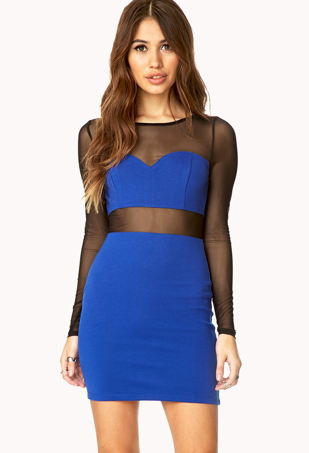 Forever 21 Daring Mesh Bodycon Dress