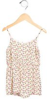 Alice + Olivia Girls' Polka Dot Sleeveless Romper