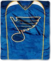 Northwest Company St. Louis Blues Raschel Stamp Blanket