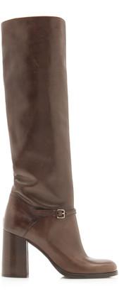 Miu Miu Leather Knee Boots