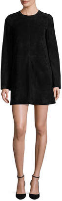 Theory Komiza Suede Bell Sleeve Dress