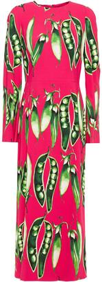 Dolce & Gabbana Printed Stretch-crepe Midi Dress