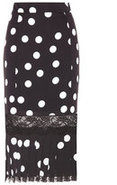 Dolce & Gabbana Polka-dotted silk-blend skirt