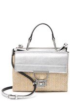 Coccinelle Leather & Woven Crossbody Bag