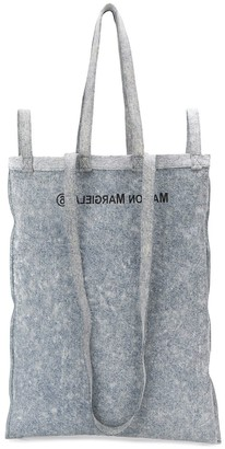 MM6 MAISON MARGIELA Reversed Logo Denim Tote