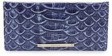 Brahmin Women's Ady Croc Embossed Continental Wallet - Blue