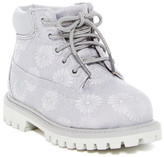 Timberland 6in Grey Floral Classic Boot (Toddler & Little Kid)