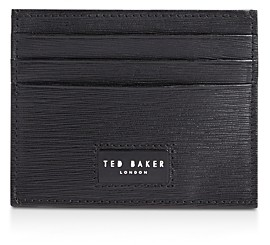 Ted Baker Despot Wood-Grain Leather Card Holder