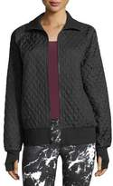 Norma Kamali Zip-Front Quilted Bomber Jacket