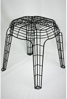 Rojas Williston Forge Metal Wire Accent Stool Williston Forge