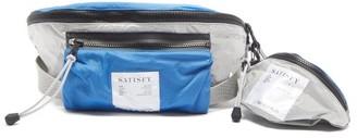 Satisfy Zipped Nylon Cross-body Bag - Silver Multi