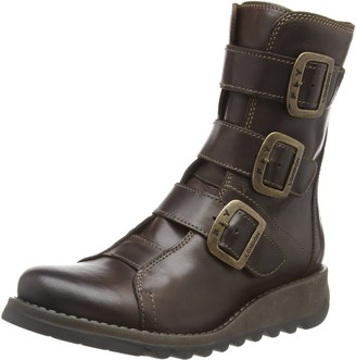 Fly London Women's SCOP110FLY Biker Boots (Dk Brown 001) 7 (40 EU)