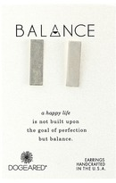 Dogeared Balance Wide Bar Stud Earrings