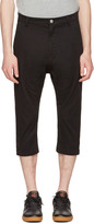 Helmut Lang Black Taped Crop Trousers