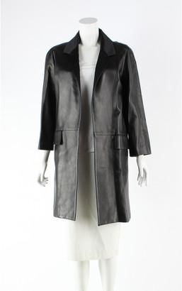 Christian Dior Black Leather Coats
