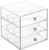 InterDesign Clarity Stackable Organizer Holder for Eyeglasses, Sunglasses and Reading Glasses - 3 Drawers, Clear