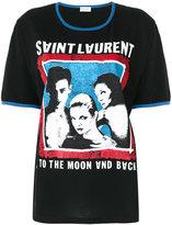 Saint Laurent Rock print boyfriend T-shirt