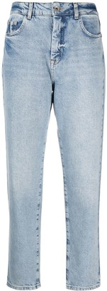 Patrizia Pepe Cropped Light-Wash Jeans