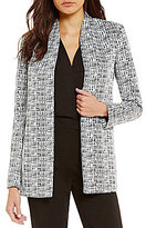 Calvin Klein Geometric Jacquard Open Front Jacket