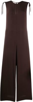 Incotex Wide-Leg Sleeveless Jumpsuit