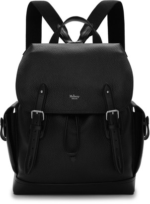 Mulberry Heritage Backpack Black Natural Grain Leather