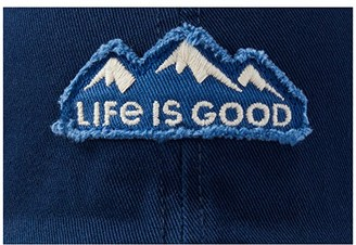 Life is Good LIG Mountain Tattered Chill Cap (Darkest Blue) Caps