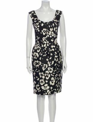 Oscar de la Renta 2013 Knee-Length Dress Black