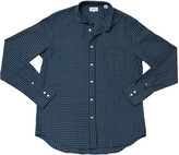 Hartford Men's Plaid Paul Woven Shirt - Navy