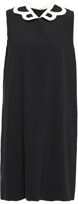 Moschino Embroidered Stretch-crepe Dress
