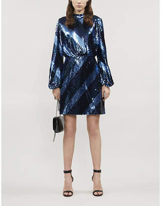 Ted Baker Striped sequin mini dress