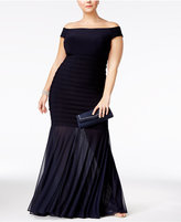 Xscape Evenings Plus Size Off-The-Shoulder Mermaid Gown
