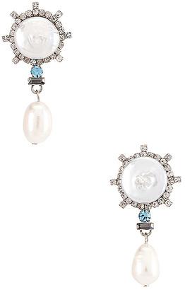 Dannijo Rosita Blue Dangle Earrings