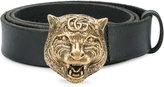Gucci tiger buckle belt - men - Leather/metal - 95