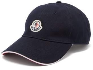 Moncler Logo-patch Cotton Cap - Mens - Navy